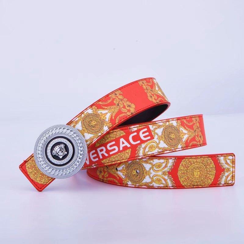 الرجال 2Fashionable ورسائل الذهب أحزمة V المرأة على نحو سلس مشبك حزام حزام تصميم القهوة السوداء لونين دون