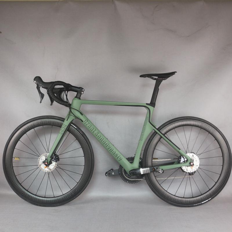 Aero Disc custom desgin Toray T800 Carbon Fiber road complete bike TT-X16 model with SHIMANO R8020 groupset