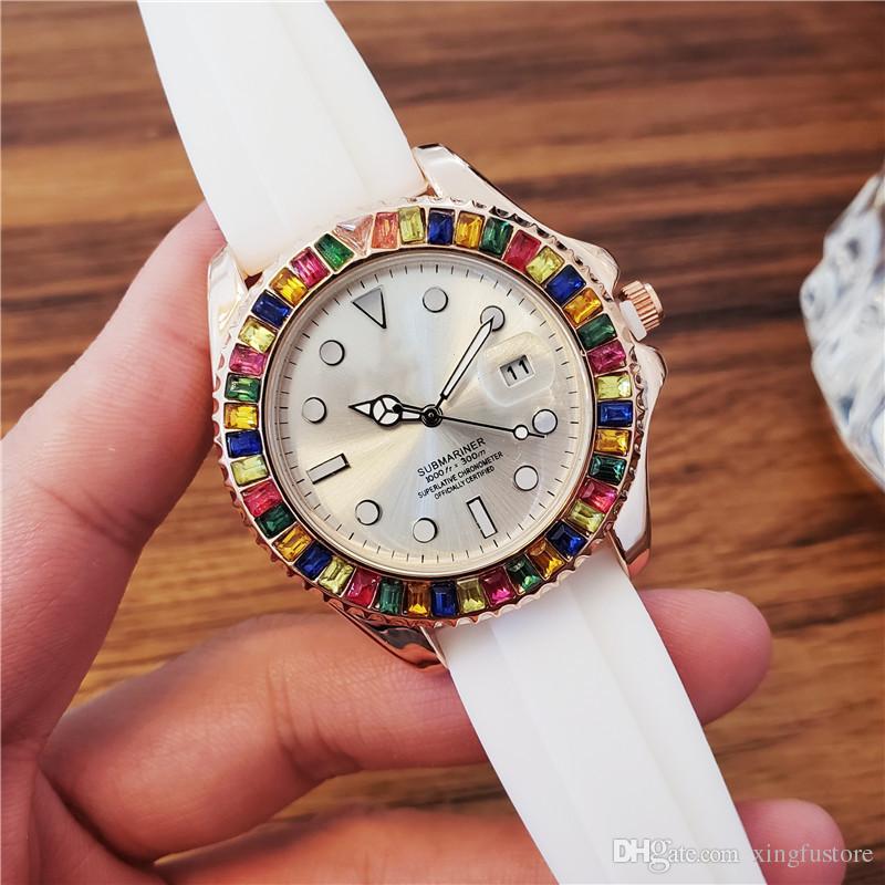 2019 alta qualidade big bang relógio para homens luxo grande diamante silicone esportes relógio de pulso para as mulheres de luxo relógio de pulso amante relógios de pulso