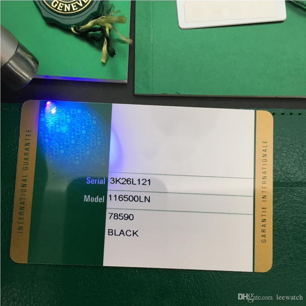 الأمن الأخضر بطاقة الضمان نموذج مخصص طباعة الرقم التسلسلي العنوان على بطاقة الضمان ووتش مربع لصندوق ساعات رولكس العلامات