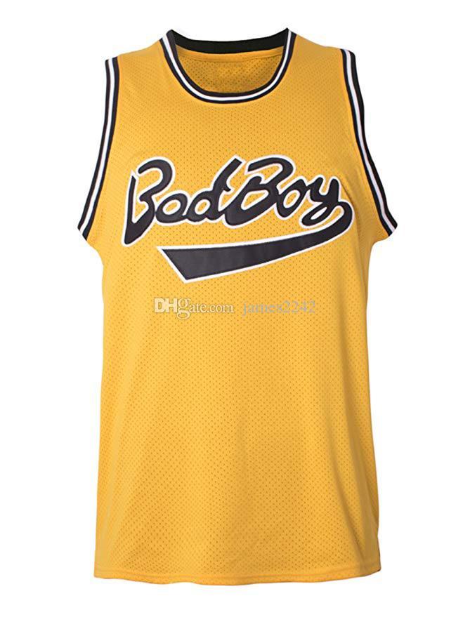 Navire de US Biggie Smalls # 72 Bad Boy Notorious Big Film Hommes Jersey Basketball Tous cousus S-3XL de haute qualité