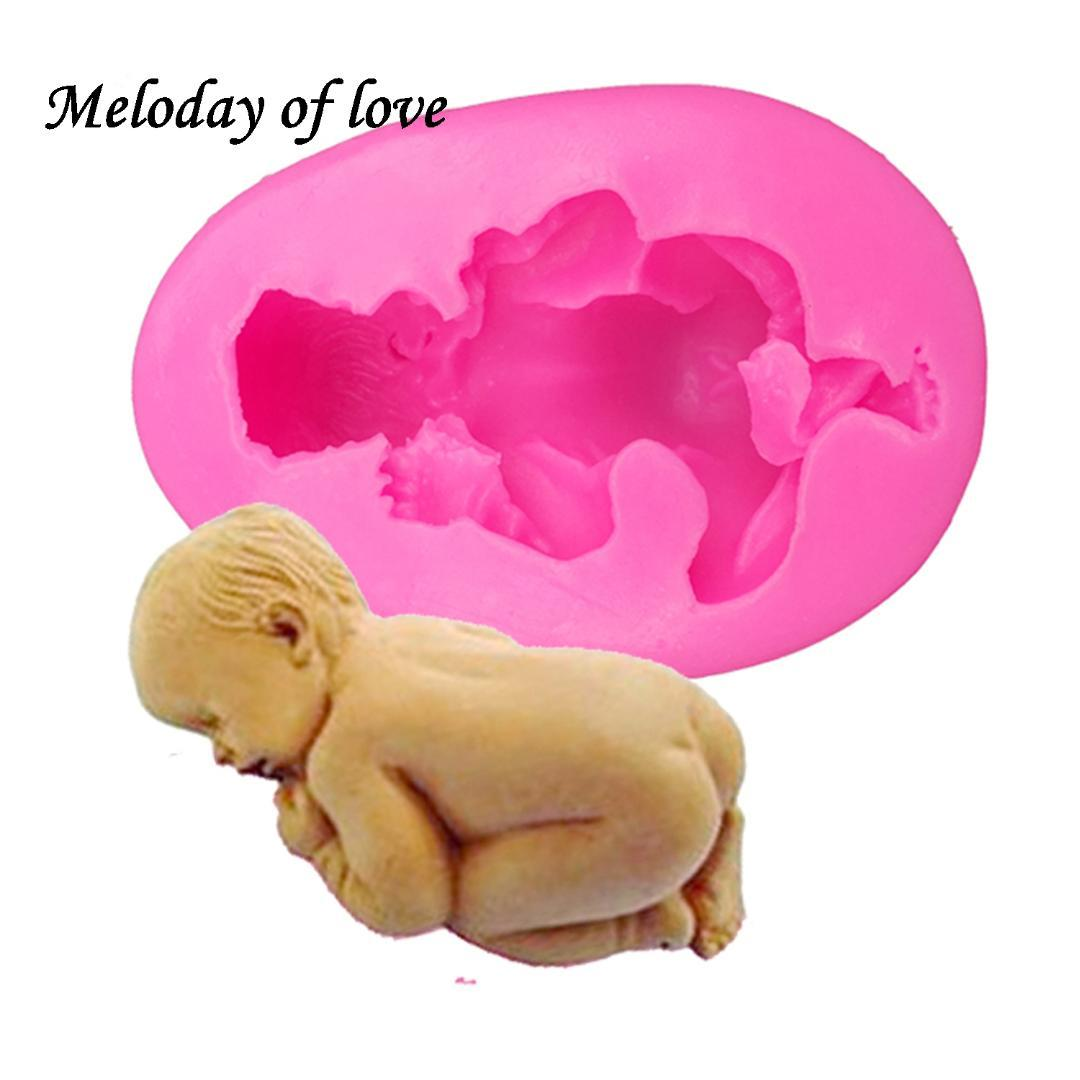 3D Sleep baby handmade soap mold chocolate cake decorating tools DIY cookies fondant silicone mold Fimo Silicone mould