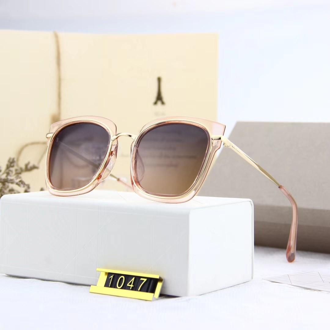 Nuevas gafas de sol del diseñador para los hombres del diseñador gafas de sol de las mujeres para las mujeres gafas de sol gafas de sol de los hombres de lujo de la lente UV400 del diseñador de la marca 1047