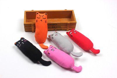 Мода Зубы Игрушка шлифовального Catnip Смешной Интерактивный Плюшевый Pet Cat Kitten Жевательной Vocal Игрушка Когти Thumb Укус игрушка Cat Mint для Cat Kicker