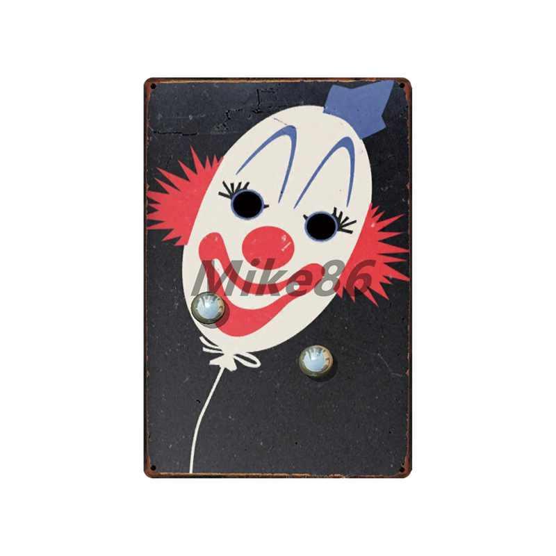 [Mike86] Страшный клоун Цирк Металл Знак Стена Налет Плакат Живопись Искусство Рождество Декор Искусство FG-517