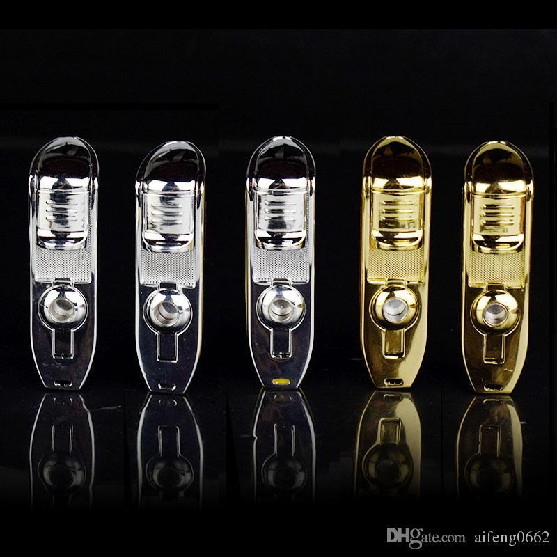 Nouvelle arrivée en gros COHIBA Accessoires Qualité de poche Serpent de Métal Bouche Forme Gaz Butane coupe-vent 3 flamme flamme Jet Briquet