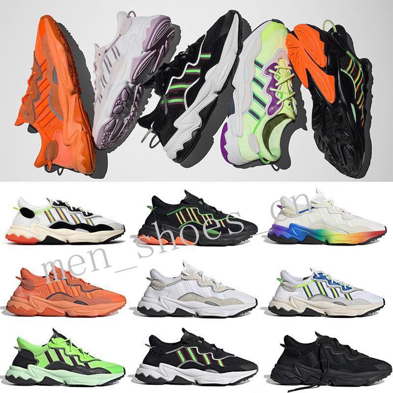 2020 Отражающие Xeno Ozweego Мужчины Женщины Повседневная обувь неоновый зеленый Солнечные желтый Halloween Tones Основной черный тренер 3M Спорт Кроссовки tensev