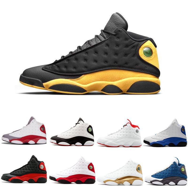 Cheap New Top Quality 13 13s Homens Mulheres tênis de basquete Bred holograma Preto Castanho Azul Branco flints Grey Red Sports Sneakers Size7-13