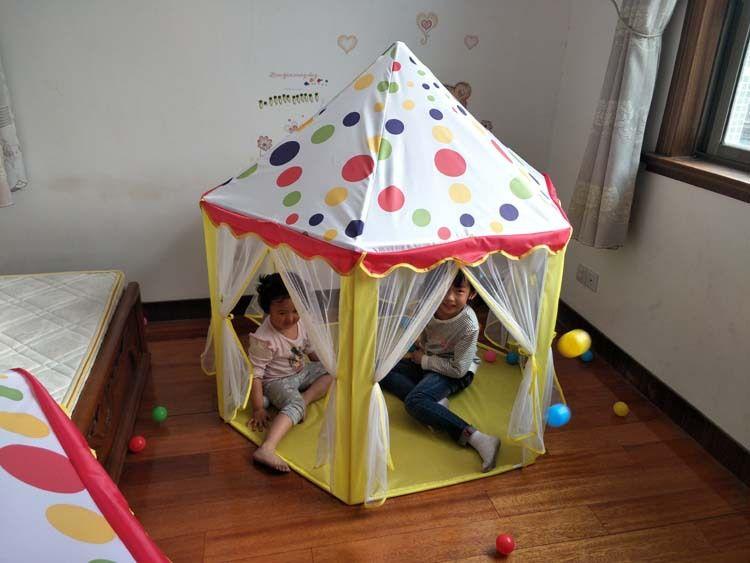 Las tiendas de juguetes de los niños Castillo Juego Jugar Carpa Casa Tul Carpa del tipi niños en el castillo hexagonal casa del juego Juguetes