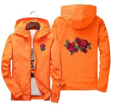Rose Jacket Windbreaker Herren- und Damenjacke New und Black Roses Outwear Coat