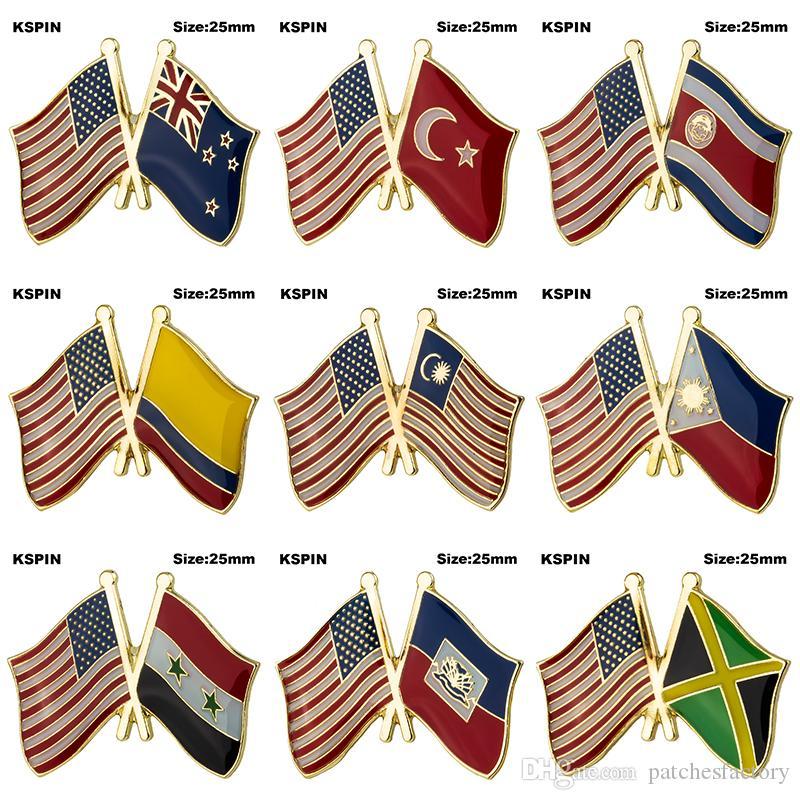 Patch nazione stati uniti d America usa bandiera spilla in metallo