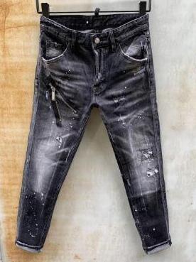 Neue Art-Marken-Mann-Jeans-Denim-Jean-Stickerei Tiger Hosen Löcher Jeans Zipper Männer keucht dünne Jeans Männer 000019c36 #