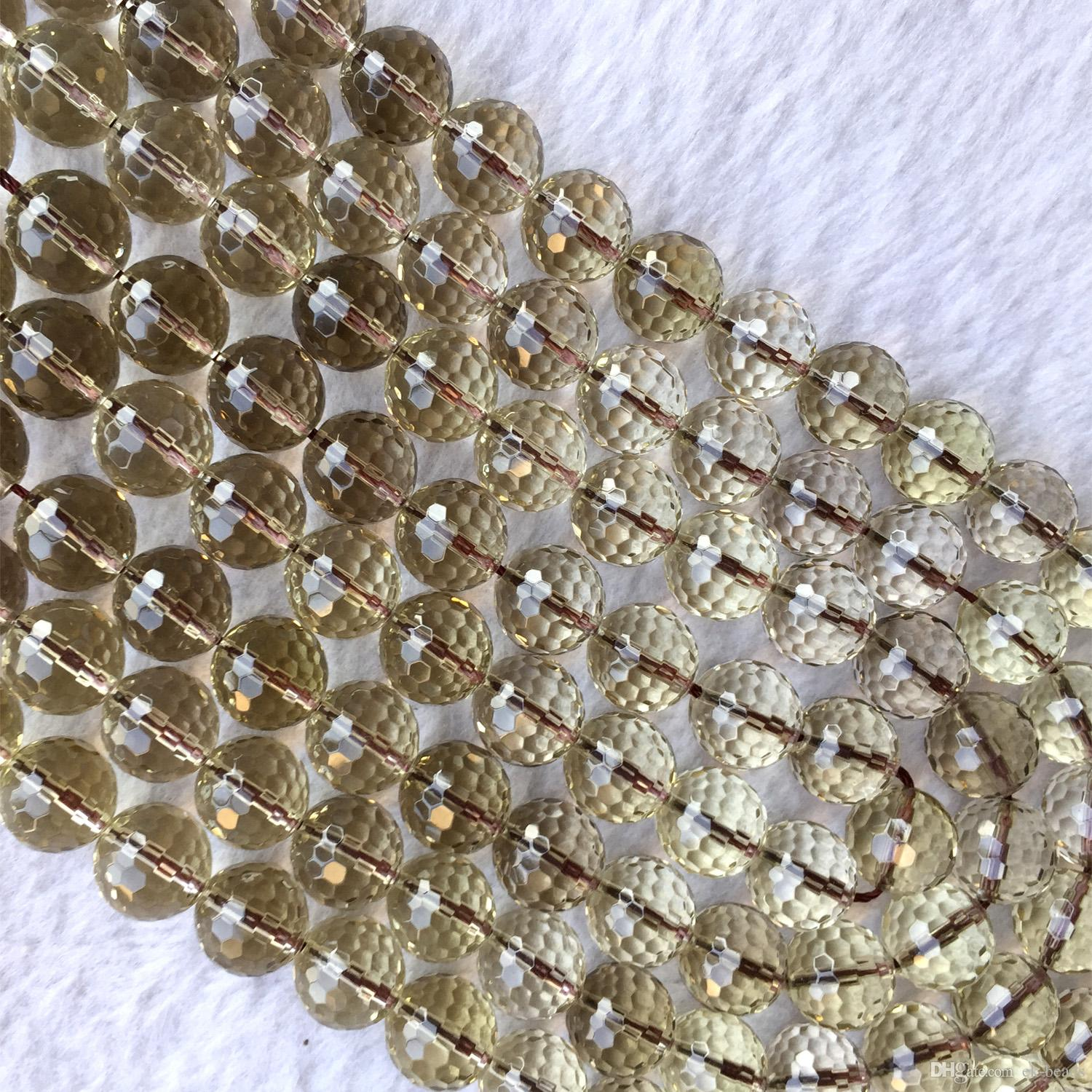 """128Faceted  4,6,8,10,12,14,16,18mm Smoky Quartz Round Loose Beads 15/"""""""