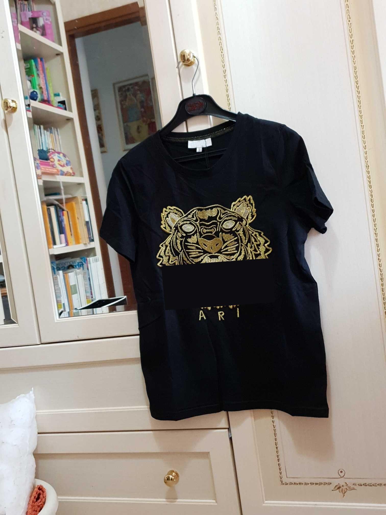 20s лето футболки для MenTiger Head письмо Вышивка T Shirt Mens Streetwear коротким рукавом Tshirt женщин Верхняя одежда S-2XL CYP720cixiu