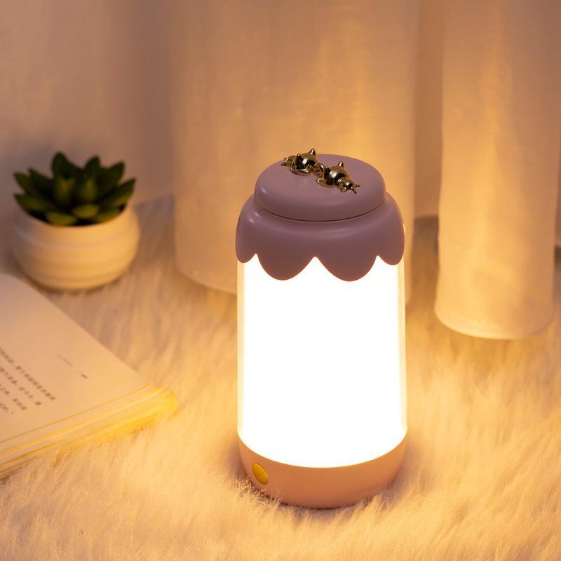 창조적 인 눈 보호 테이블 램프 스마트 침대 옆 조명등 1 개를 충전 루미 너스 병의 밤 빛 USB