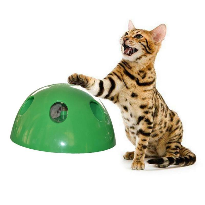 3pcs / set Innovations Cat Toy Eletrônico Movendo Suprimentos Feather mouse Teaser mouse Squeak Pet Toys outro gato