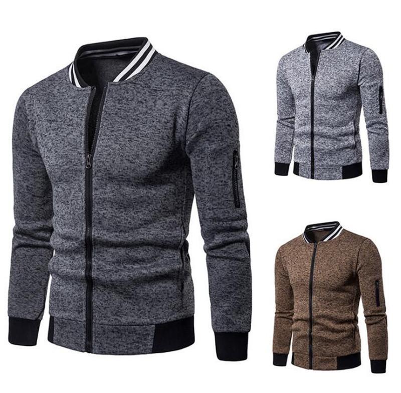 Mode Hommes Veste Manteau De Luxe Designer Vestes Hommes 2019 Automne Nouvelle Tendance Khaki Gris Mode À Manches Longues Marque Vêtements Pour Hommes En Gros