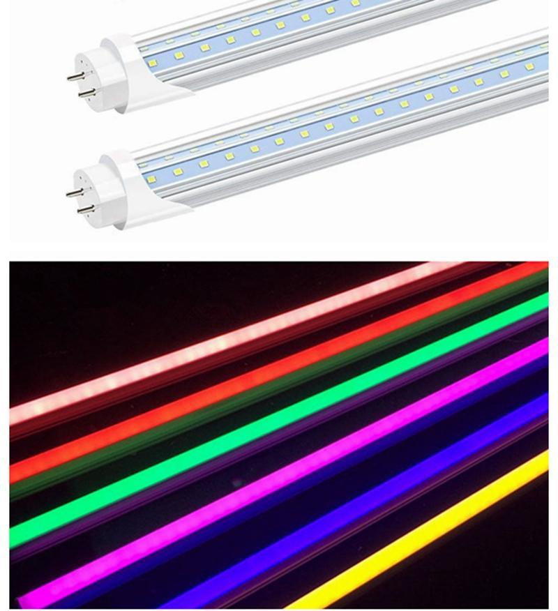 G13 T8 4피트 컬러 LED 튜브는 컬러 램프 T8 매우 밝은 파란색 노란색 형광 분홍색 줄 다채로운 튜브를 적색 LED AC100-265V