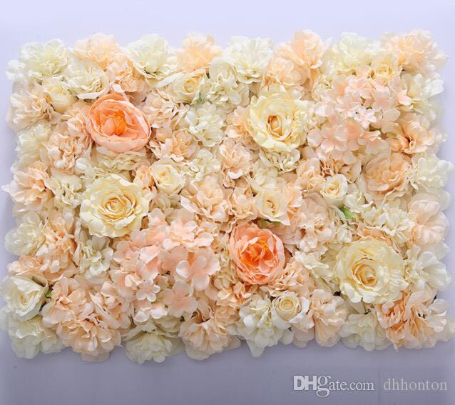 flower wall Silk rose tracery wall encryption floral background artificial flowers creative wedding stage free shipping WT055
