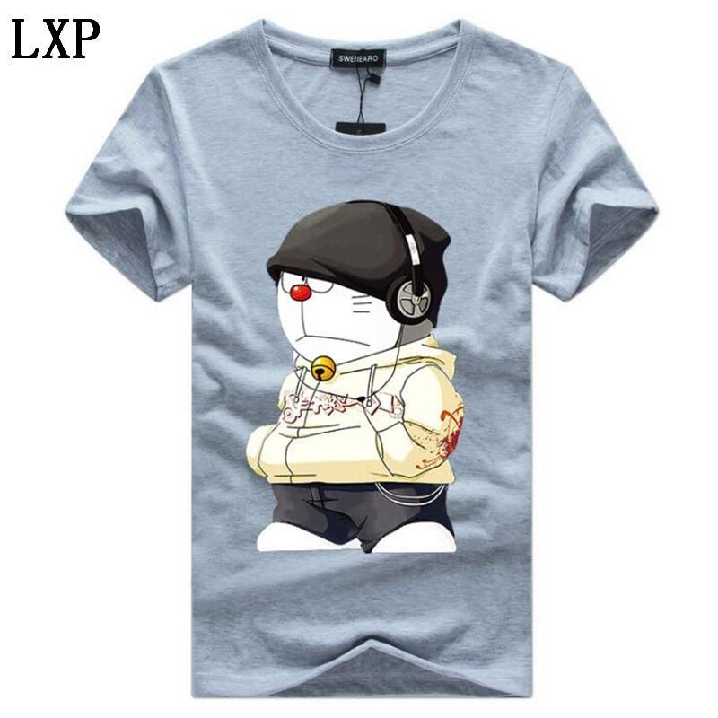 Más el tamaño de las camisetas de los hombres de 5XL Camiseta verano de los hombres de manga corta de impresión divertida de la camiseta de las camisetas Hombre Camiseta T-shirt Homme HC-2