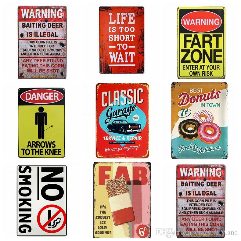 Metal Tin Signs Collection Route 66 Vintage Wall Art Retro TIN SIGN Old Wall Metal Painting ART Bar Man Cave Pub Restaurant Decoration