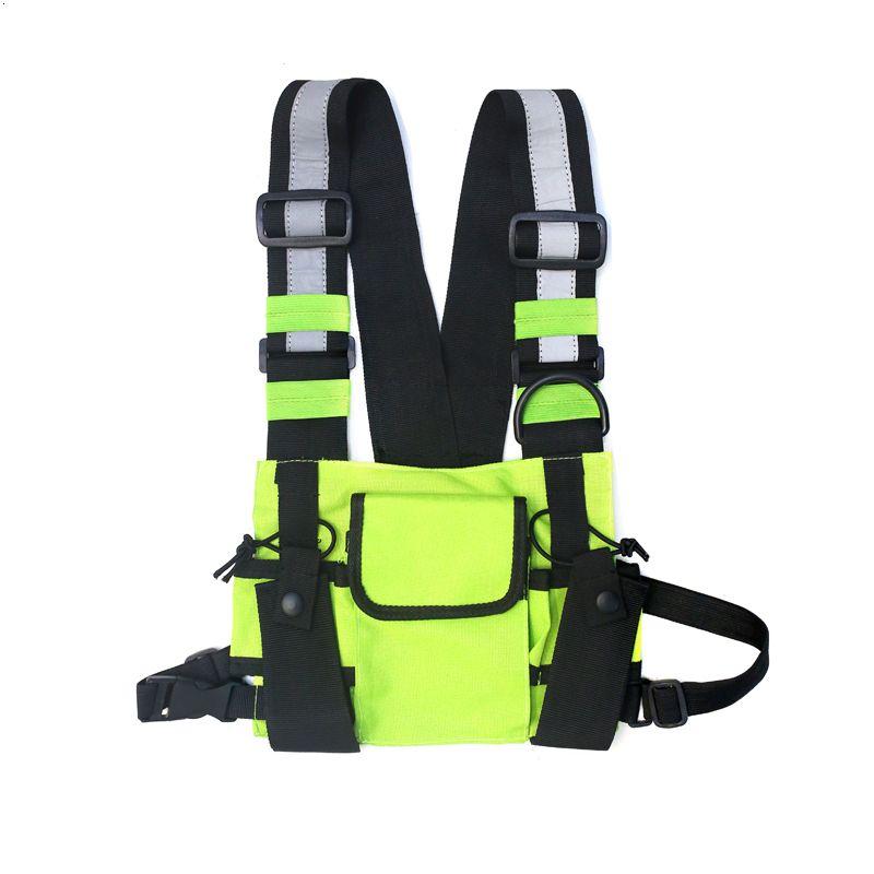Chest Rig сумка Tactical Vest Harness передний пакет сумка кобура Vest Rig Hip Hop Streetwear Функциональная Chest сумка для мужчин талии сумка SH190924