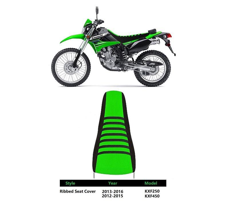 25 sets/carton wholesales 2013-2016 KXF250 Black Green Ribs Ribbed Seat Cover FOR Kawasaki Honda Yamaha Suzuki BMW Racing part
