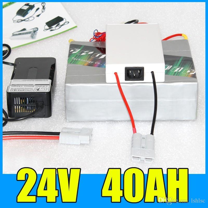 Paquet de batterie de li-ion de lithium de 24V 1000W, batterie électrique d'énergie solaire de scooter de vélo de 29.4V 40AH 1000W