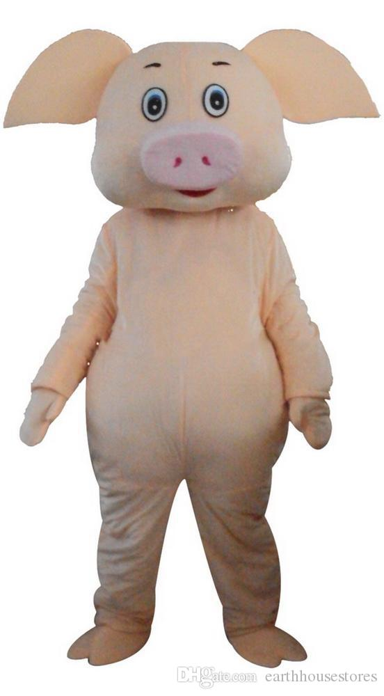 dessin animé vêtements porc mascotte, des photos physiques usine, qualité garantie, les acheteurs de bienvenue à l'évaluation et la cargaison photos0