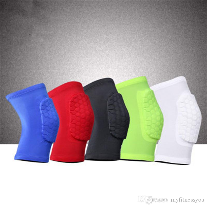 Brand Sports Basketball Knee Protector Brace Support High Elastic Knee Elbow Pads Men Compression Honeycomb Kneecap Support Guard Leg Sleeve