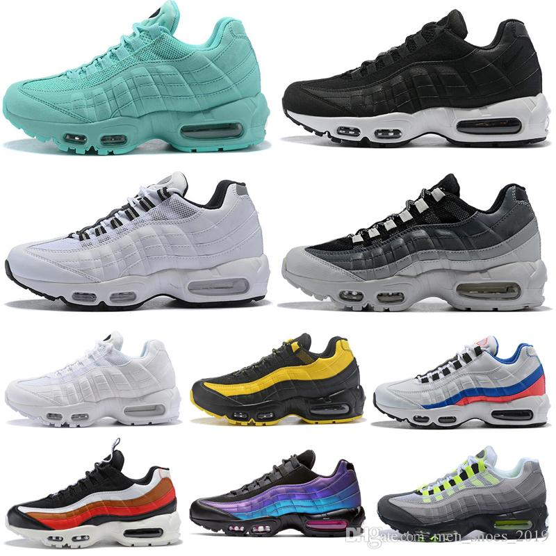 2019 Running Shoes Triple white black all red green pink black red OG Neon Outdoor Women Mens Trainers Athletic Sports Sneakers 36-45