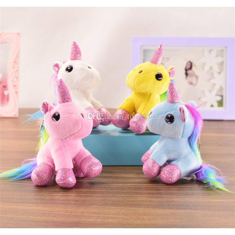Stuffed Animals Doll Plush Toys Pendant Cute Rainbow Horse Wholesale Birthday Gifts for Children Kids toys