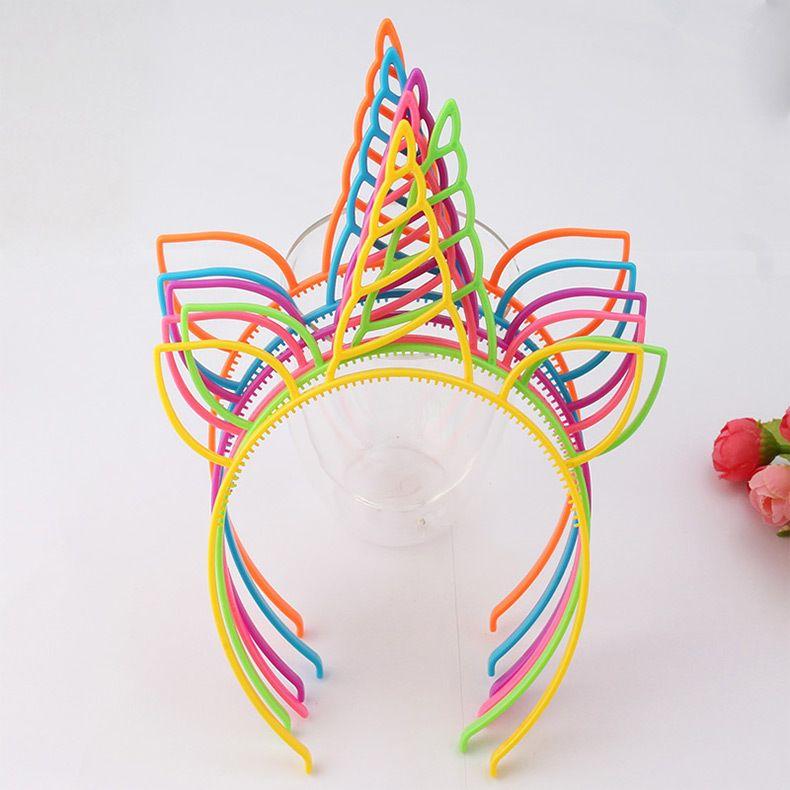 Neuer Multicolor Antler Ohrstirnband Europa und Amerika heiß Urlaub Stirnband Glitter Mode Einhorn Haarschmuck