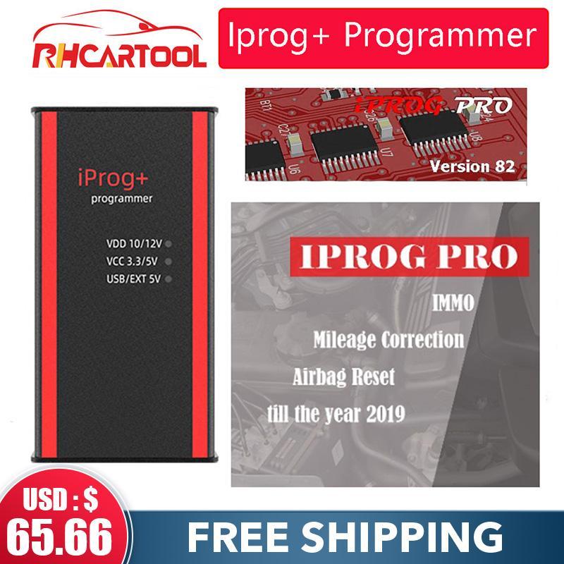 Car Iprog + V84 programmatore supporto IMMO + Chilometraggio Correzione + Airbag Reset Iprog Pro Fino a 2.019 Sostituire Carprog / Digiprog / Tango