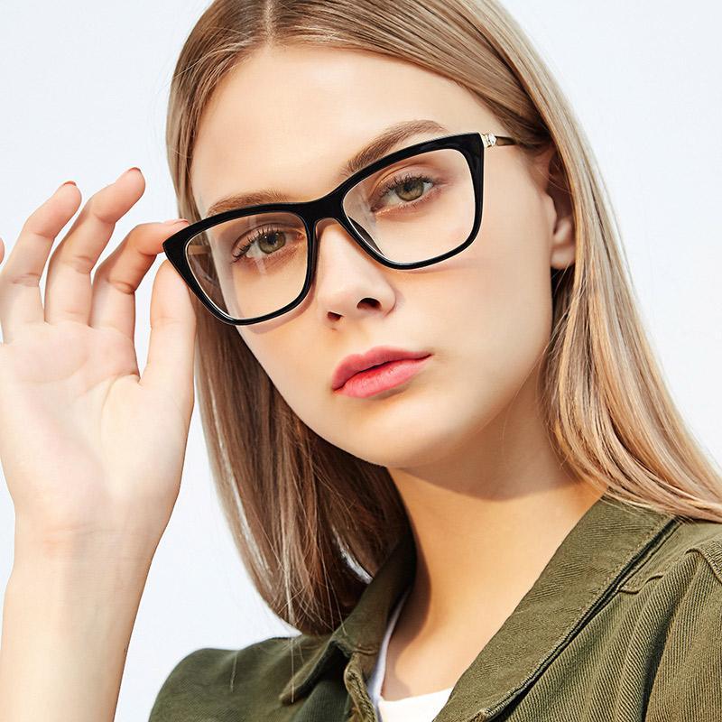 Kadınlar için Asetat Optik Gözlük Şık Kadın Gözlük Reçete Gözlük Optik Çerçeve Moda Stilleri 97330 Gözlük
