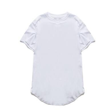 Moda Homens Estendido Roupas Camisa Longline Harajuku Expedição Free Hop Swag T Tee Rocha T-shirt Hip Shirts Oiosc