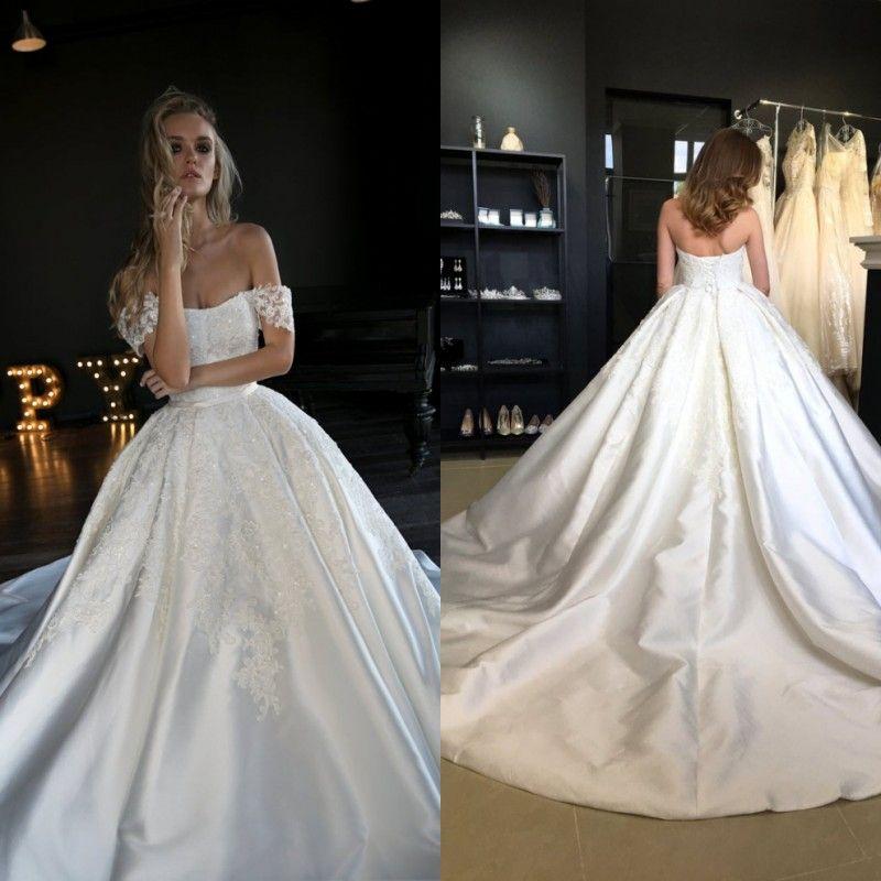 Vestidos de vestidos de novia de Noiva la parte superior abierta con cable de rebordear La mitad de manga larga de encaje apliques Vestidos de novia vestidos de boda personalizado Hecho
