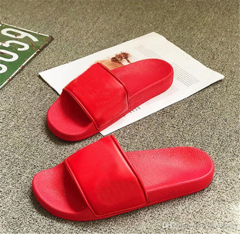 Diapositives Lettres Hommes Tongs été ADHÉRENCE Plage plat Chaussons Chaussures 4 couleurs en option