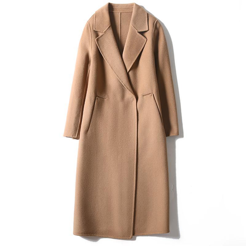 Coreano vestiti delle donne di inverno 2020 100% lana del cappotto femminile elegante rivestimento lungo di lana Vintage signore Abrigo Mujer 98001