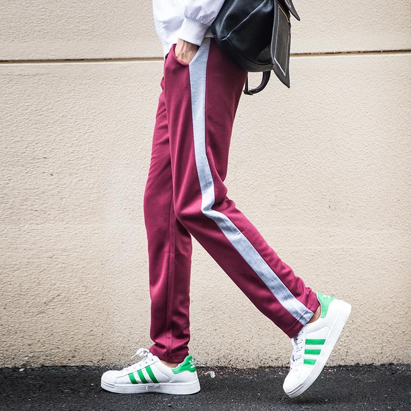 2018 erkek Pamuk Baskı Tam Spor Pantolon Rahat Elastik Spor Egzersiz Pantolon Sıska Sweatpants Jogging Yapan Pantolon Pantolon SH190829