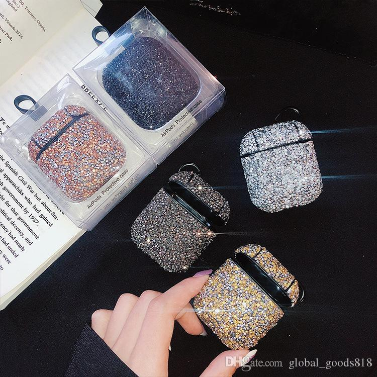 Rhinestone Glitter Wireless Bluetooth Earphone Charging Box Protective Case Cover For Apple Airpods