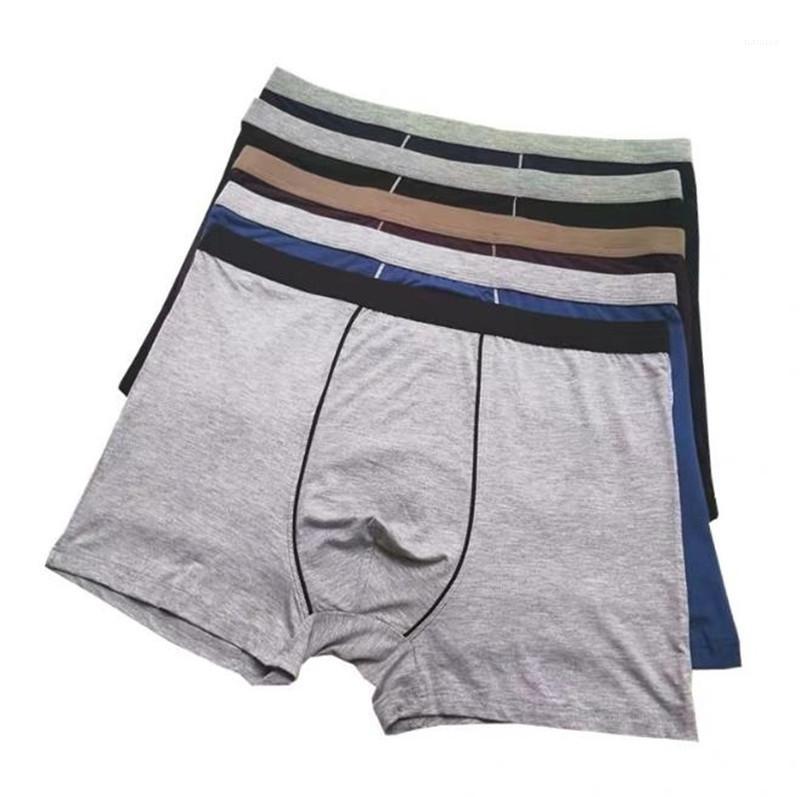 Modal Caleçon Homme Couleur unie en vrac respirant Mens Underpants Plus Size