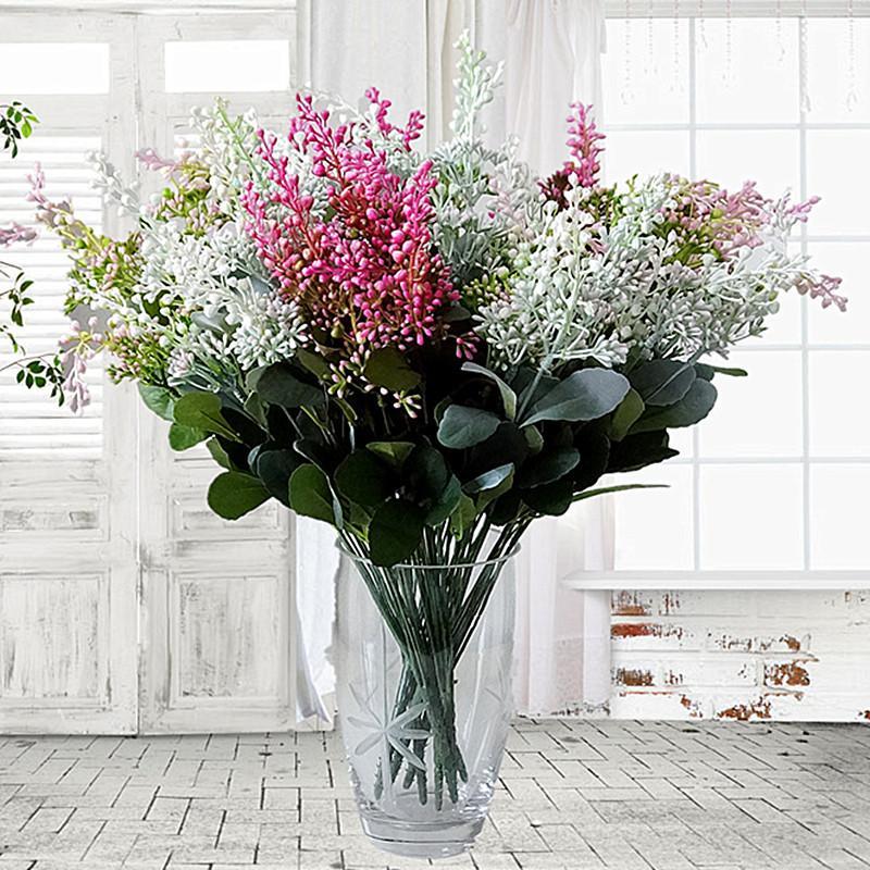 plantas falsas Big Artificial baga de frutas flores de plástico com folhas para acessórios de decoração para casa plante artificielle