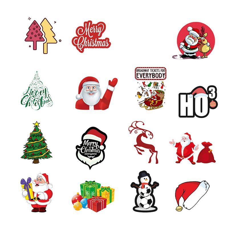 Yeni Noel Dekorasyon VSCO Kızlar Çıkartma Cadılar Bayramı Su geçirmez Sticker buzdolabı Bagaj Arabası Bavul Laptop Sticker 50pcs / 1 opp torba