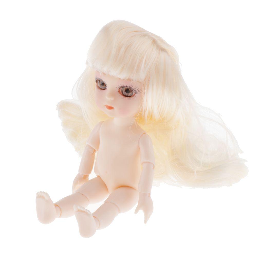 Подвижная обнаженная 13 суставов кукла обнаженная картина тела модель DIY с белыми волосами
