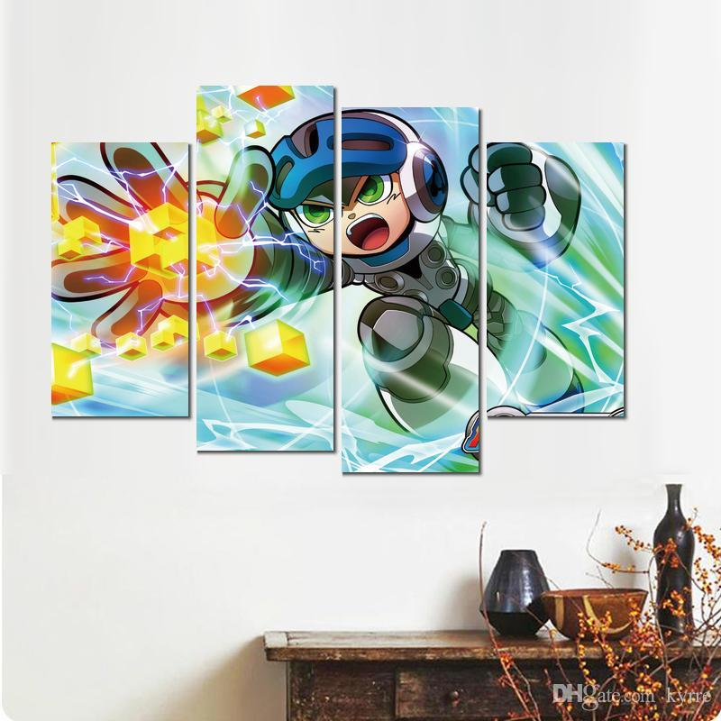 Puissant pas de jeu 4 sets art affiche peinture impression sur toile pour la décoration maison