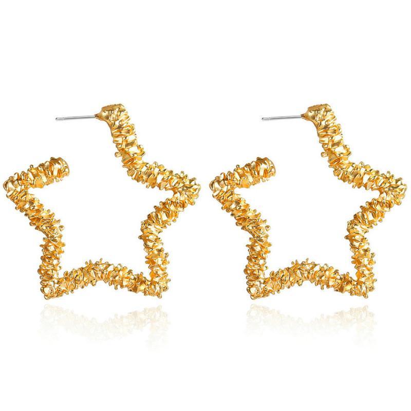 Japão coreano Moda Flor ocas Estrelas amor do coração Dangle Brincos 2020 para Mulheres Party Girl Jewelry Brincos