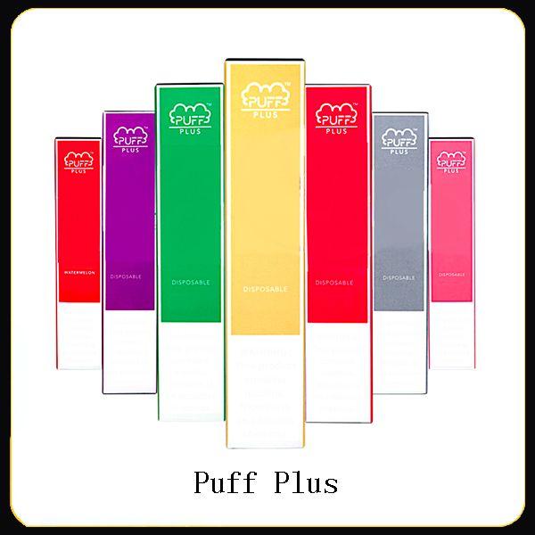 Newest PUFF BAR PLUS 800+Puff Disposable Pod Cartridge 550mAh Battery 3.5mL Pre-Filled Vape Pods Stick Style e Cigarettes Portable Vaporizer