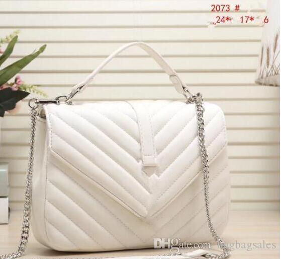 Alta qualidade classicl moda bolsas de couro pu mulheres sacos de ombro lady sacolas bolsa mensageiro saco 2073 size24 * 6 * 17 cm