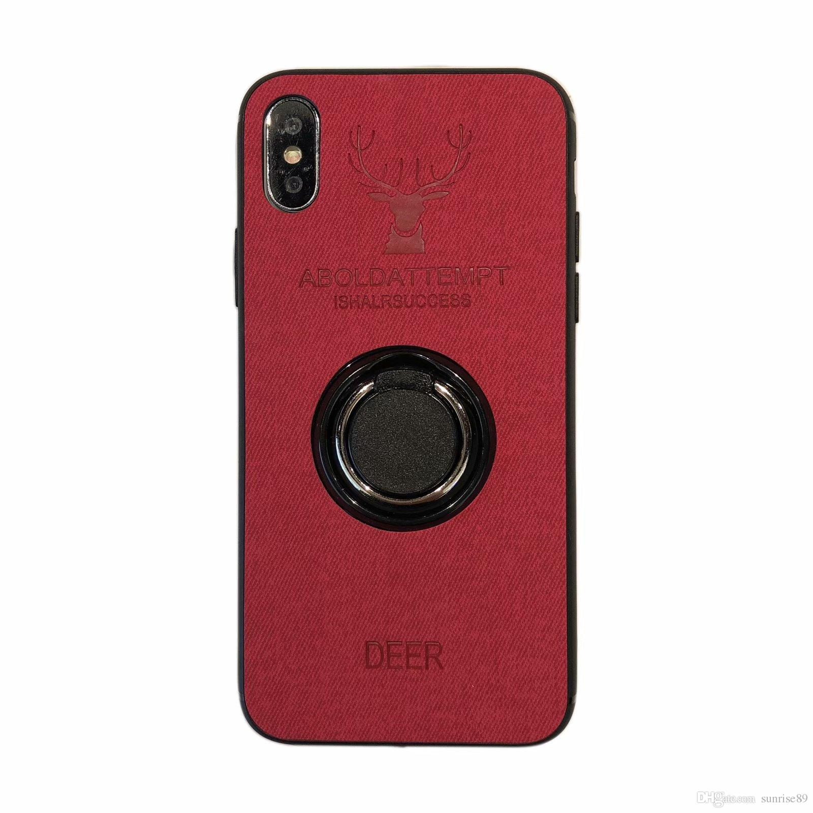 Deer Original Phone Case For iPhone XS MAX XR X 7 8 Plus Back Shockproof Soft Cases ring holder New hot sell Case